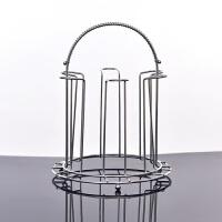 不锈钢杯子收纳置物架杯架放茶杯的架子创意玻璃杯沥水架水杯挂架