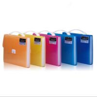 手提事务包 F8818风琴包 收纳包 13层霓影色 文件袋 横款 颜色随机