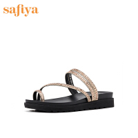 Safiya/索菲娅拖鞋新款外穿夹趾拖鞋仙女懒人半拖SF92110402