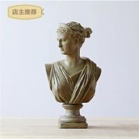 家用欧式石膏雕像摆件复古工艺品家居装饰品客厅隔断玄关柜艺术品摆设SN9005