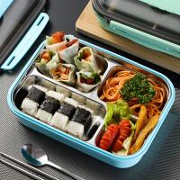 不锈钢饭盒便当盒保温学生食堂分格便携分隔型带盖套装
