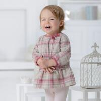 davebella戴维贝拉女童春装公主宝宝婴儿长袖连衣裙
