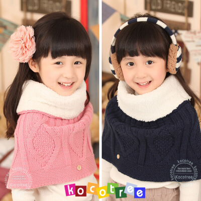 韩国kk树儿童披肩秋冬季保暖加厚宝宝披肩潮版小孩披肩女童披肩