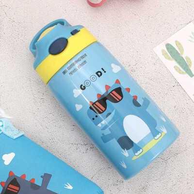 儿童保温杯带吸管小学生鸭嘴直饮水杯女幼儿园宝宝便携防摔水壶男