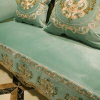 【特惠购】欧式沙发垫四季通用防滑高档奢华布艺美式沙发套罩真皮冬季毛绒厚