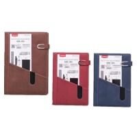 925封面创意口袋记事本 带磁扣商务笔记本 记事本 蓝/红/棕色可选
