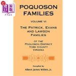 【中商海外直订】Poquoson Families, Volume VI: The Patrick, Evans an