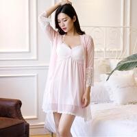 家居服公主装性感睡衣两件套夏季情趣内衣短裙带胸垫吊带睡裙