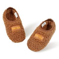 儿童棉拖鞋冬季家居鞋毛毛地板婴幼儿室内鞋1-3岁