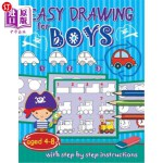 【中商海外直订】Easy drawing for boys: aged 4-8