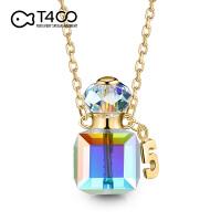 T400项链925银轻奢知性采用施华洛世奇元素水晶香水瓶5号