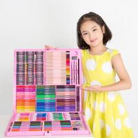 儿童水彩笔绘画套装礼盒画画工具小学生文具套装学习礼品水彩笔画笔初学者美术学习用品开学生日礼物