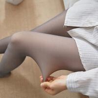 空姐灰透肤春秋款紧身一体外穿高腰假透肉打底裤女冬加厚加绒连袜