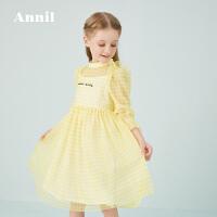【活动价:284】安奈儿童装女童连衣裙复古风2020春季新款文艺清新连衣裙