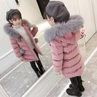 儿童棉衣2018新款韩版加厚棉服女孩洋气时髦外套冬装