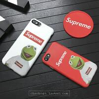 科米蛙手机壳7p潮牌苹果6splus个性创意青蛙6硅胶全包边软 小7 红色 4.7寸