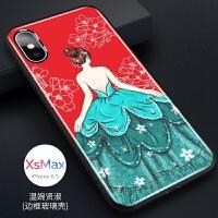 �O果X手�C�ば缕�XR女款XSmax裙子7p��性8p�W�t6p��意潮iPhone6splus玻璃保�o套�r �O果xs max-