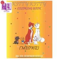 【中商海外直订】Kitty Kitty Coloring Book: Meowz
