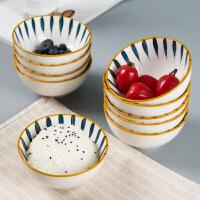 碗创意个性家用米饭碗陶瓷日式餐具碗筷套装吃饭北欧十个碗盘子