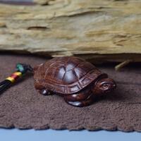 非洲小叶紫檀木雕刻手把件乌龟实木文玩摆件长寿增龄小挂件工艺品