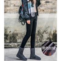 加绒牛仔裤女冬季小脚裤大码加厚松紧腰打底裤外穿
