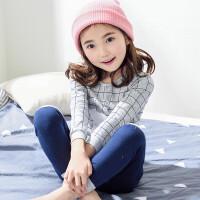 春秋宝宝女童睡衣长袖儿童家居服小女孩大童套装7-9周岁