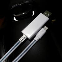 苹果流光数据线iPhoneX抖音同款7plus充电线ipad器发光6s快充8p