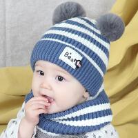 儿童宝宝帽子秋冬6-12个月围脖毛线帽韩版冬季