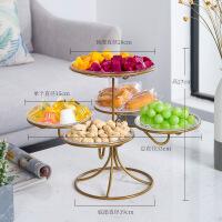 水果盘客厅创意家用干果盘糖果盘欧式多层分格水果篮甜品台展示架