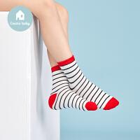 【用券满129立减30】3双装都市丽人儿童内衣都市贝比儿童组合袜子女大童时尚中筒袜