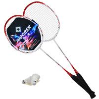 准者碳纤维羽毛球拍2支装 超轻男女双拍初学者情侣球拍