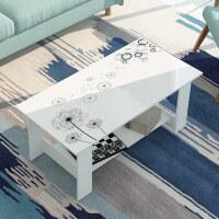 茶几简约现代小户型迷你客厅飘窗经济型储物茶桌简易双层长方形桌