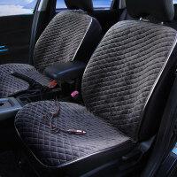 汽车加热坐垫冬季座垫 汽车加热坐垫12V冬季车载电加热垫碳纤维远红外保暖车垫加热座椅