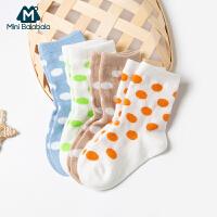 迷你巴拉巴拉儿童袜子女童宝宝可爱波点短袜2020春新款两双装