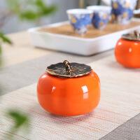茶叶罐陶瓷小号定制普洱花绿茶香粉密封存储物罐茶叶包装礼盒
