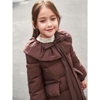 儿童棉衣外套中长款加厚2018新款中大童韩版冬季女孩棉服