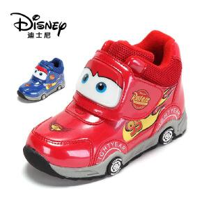 【达芙妮集团】迪士尼 冬季保暖舒适男童冬靴卡通可爱儿童鞋