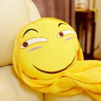 滑稽抱枕表情包笑脸恶搞搞笑二次元毛绒暖手捂抱枕公仔动漫周边