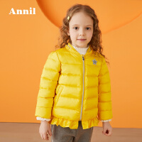【200-120】安奈儿童装女童短款羽绒服2019冬装新款小童洋气外套