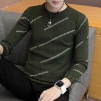 男士毛衣潮男韩版修身长袖针织衫青年休闲套头线衫学生圆领打底衫