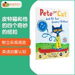 #英国进口 皮特猫和他的四个奇妙的纽扣 Pete the Cat and his Four Groovy Button