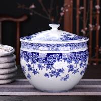 茶�~罐陶瓷存��罐大�家用密封罐�[件七子�普洱茶�~罐茶�~包�b
