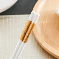 耐高温不易滋生细菌家用筷子欧式陶瓷筷子家用防滑防霉耐高温象牙骨瓷景德镇餐具