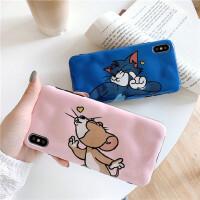 猫和老鼠8plus苹果x手机壳XS Max/XR/iPhoneX/7p/6s女iphone11Pro硅胶套个性创意保护套