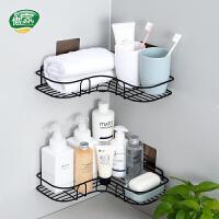 傲家 浴室转角置物架免打孔厨房卫生间洗漱台无痕壁挂三角架家用收纳架