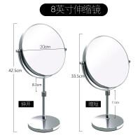 镜子化妆镜台式可伸缩梳妆镜美容结婚镜宿舍书桌大号双面1 8英寸【可伸缩】调节双面镜