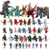 奥特曼打小怪兽软胶玩具人偶银河战士火花变身器哥斯拉哥莫拉发声发光变身器变形玩具