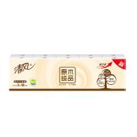 清风手帕纸原木纯品系列3层10包1条餐巾纸面纸巾卫生纸巾便携小包