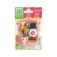 IWAKO ER-BRI017 岩泽趣味橡皮 儿童卡通可爱橡皮创意文具 .饼干甜品当当自营