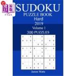 【中商海外直订】300 Hard Sudoku Puzzle Book 2019